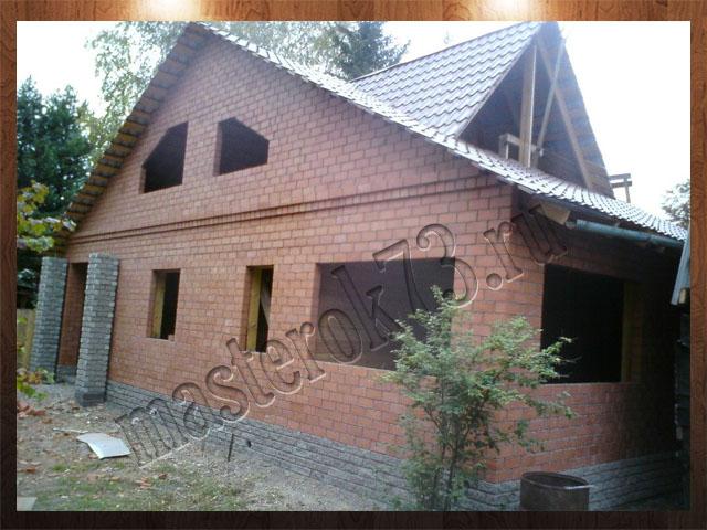 Постройка дома из кирпича