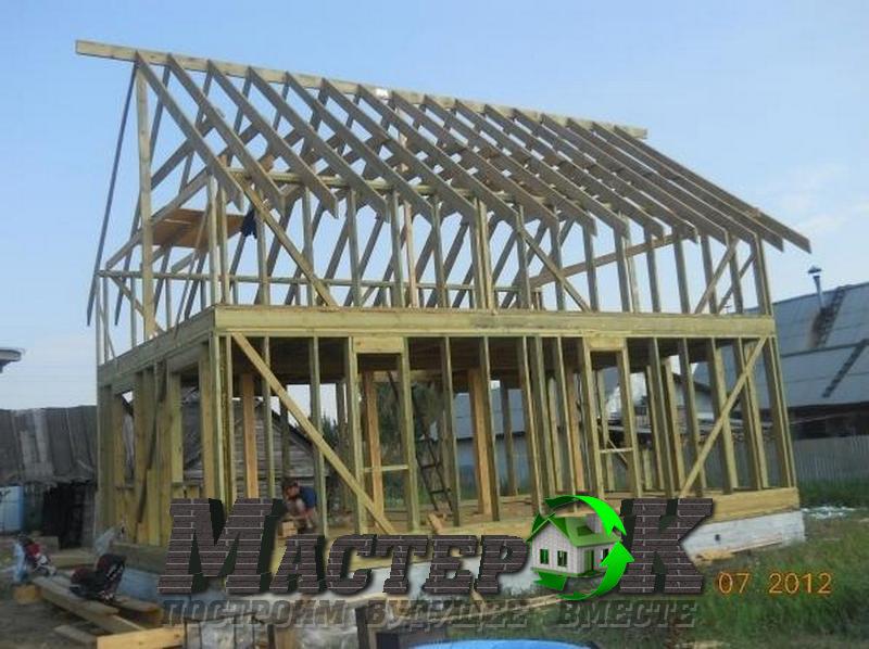 Построить каркасный дом с мансардой своими руками 96