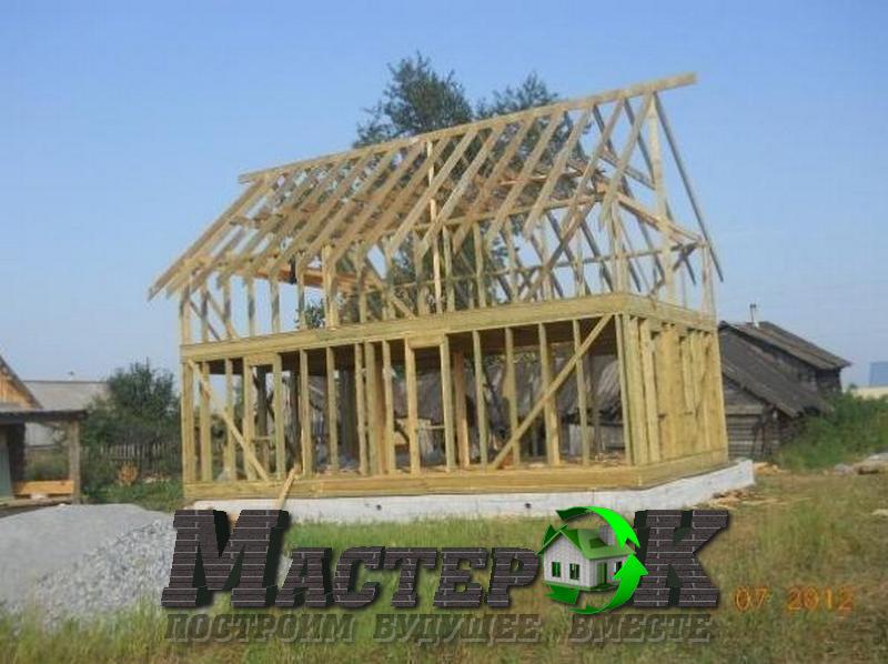 Строительство дома своими руками дачный домик6