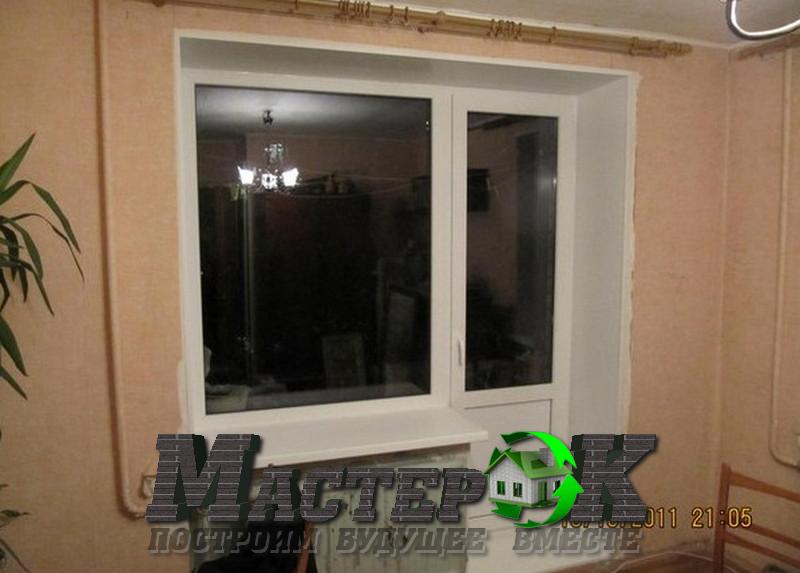 Установка пластиковых и деревянных окон фото.